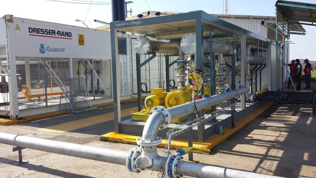 instalaciones centrales de desgasificación con valorización