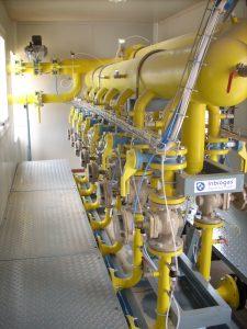 ERM Ampliación de la instalación de desgasificación de Arico. Suministro y puesta en marcha de la estación de regulación y medida automática, controlada por PLC para la celda 2 del vertedero, para un caudal de hasta 1.500 Nmᶾ/h. Trabajos de puesta en marcha de las instalaciones centrales de desgasificación y valorización de biogás de los vertederos.